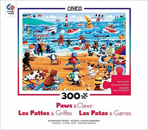 Ceaco Paws & Claws - Beach Cats Puzzle - 300 Pieces Perspective: front