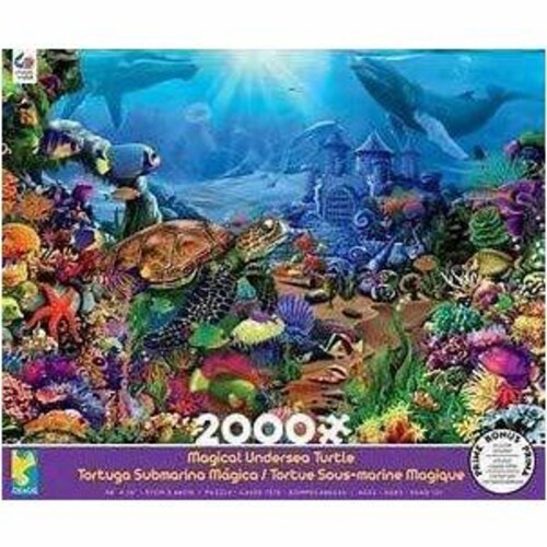 Ceaco Magical Undersea Turtle Jigsaw Puzzle, 2000 Pieces Perspective: front