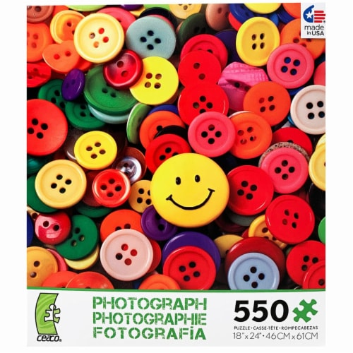 Ceaco Photography - Buttons Puzzle - 550 Pieces Perspective: front