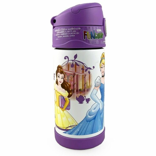 Thermos Funtainer Disney Princess Bottle, 12 oz Perspective: front