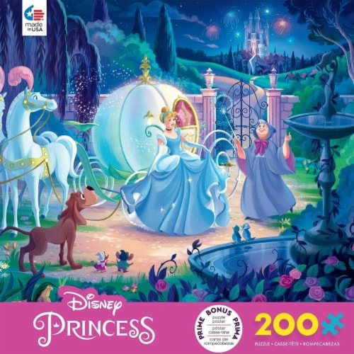 Ceaco 200 Piece Disney Friends - Cinderellas Carriage Jigsaw Puzzle, Kids and Adults Perspective: front