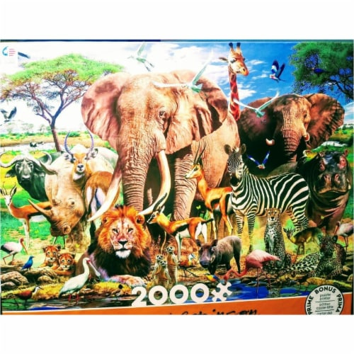 Ceaco Howard Robinson Africa 2000 Piece Puzzle Perspective: front