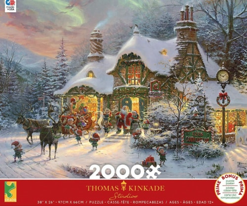 Ceaco Thomas Kinkade - Santa's Night Before Christmas Jigsaw Puzzle, 2000 Pieces Perspective: front