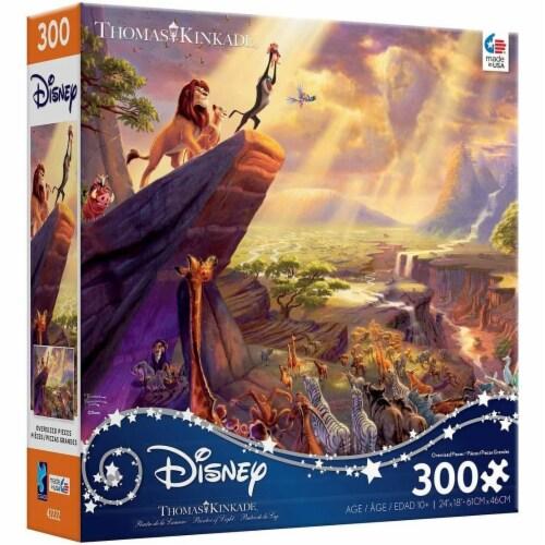 Thomas Kinkade Disney Dreams - Lion King Jigsaw Puzzle - 300 Pieces Perspective: front
