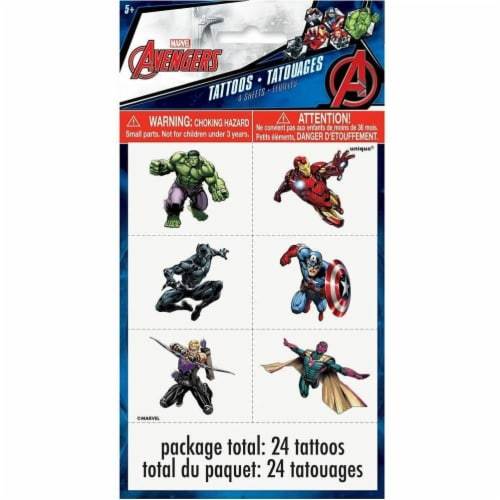 Avengers Tattoos 24ct Perspective: front