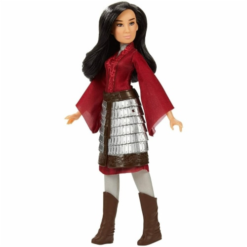 Disney Mulan Fashion Doll with Skirt Armor Perspective: front