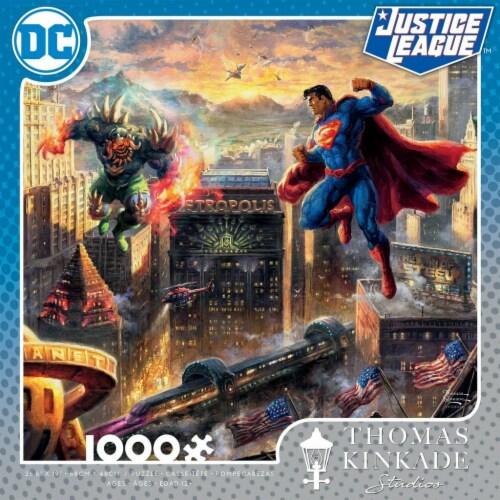 DC COMICS Thomas Kinkade - Superman Man of Steel - 1000 Piece Puzzle Perspective: front