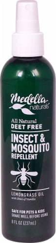 Medella Naturals Lemongrass Oil Insect & Mosquito Repellent Perspective: front