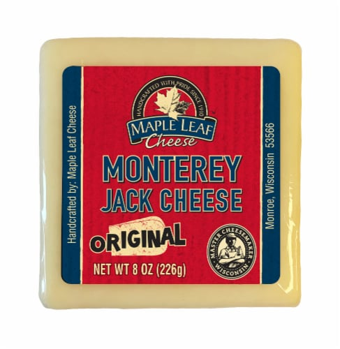 Maple Leaf Original Monterey Jack Cheese Block Perspective: front