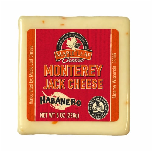 Maple Leaf Habanero Monterey Jack Cheese Perspective: front