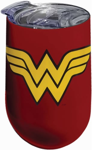 DC Comics Wonder Woman Stainless Steel Wine Tumbler Perspective: front