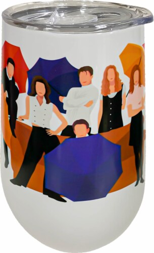 Spoontiques Friends Stainless Steel Wine Tumbler Perspective: front