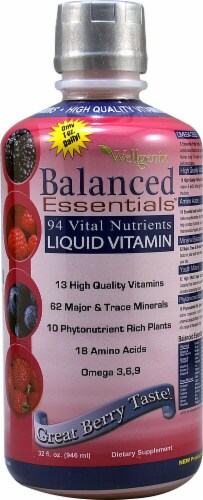 Heaven Sent Wellgenix Balanced Essentials Liquid Vitamins - Berry Perspective: front