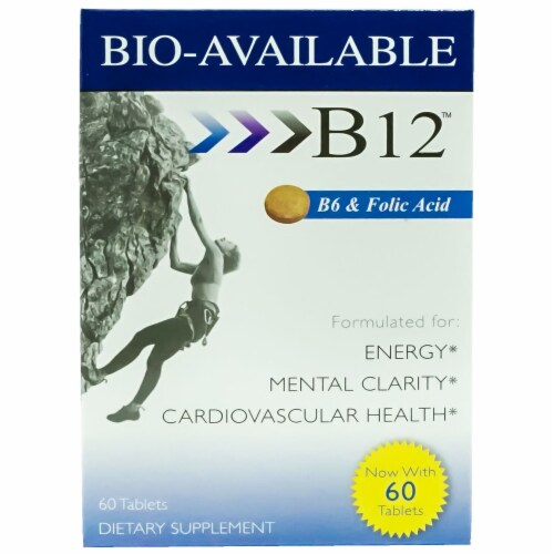 Heaven Sent Bio Available B-12 Tablets 60 Ct Perspective: front