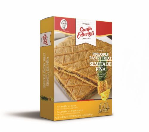 Santa Eduvigis Pineapple Pastry Treat Perspective: front
