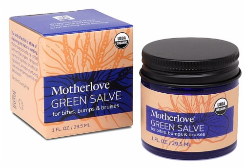 Motherlove Green Salve Perspective: front