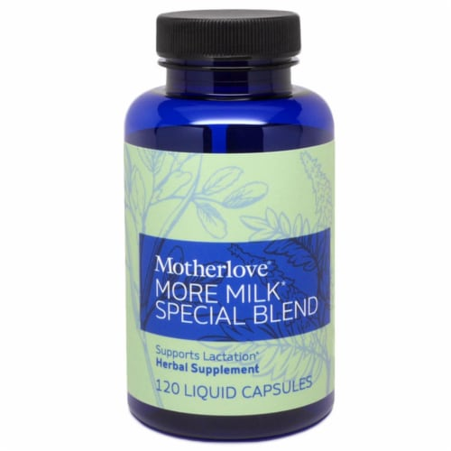 Motherlove More Milk Special Blend Herbal Lactation Supplement Perspective: front