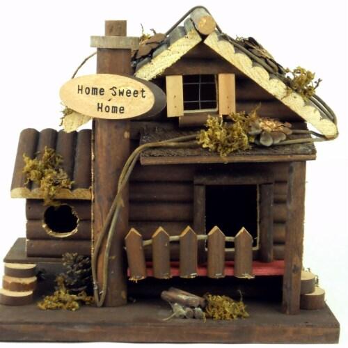 Land & Sea Home Sweet Home Fairy Garden & Bird House Perspective: front