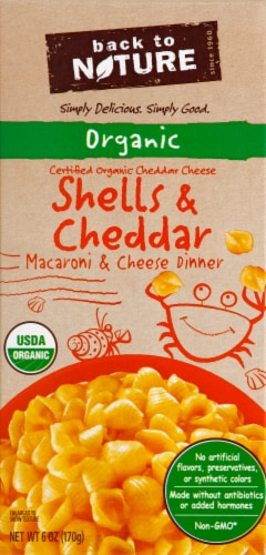 Back to Nature Organic Shells & Cheddar Cheese Dinner Perspective: front
