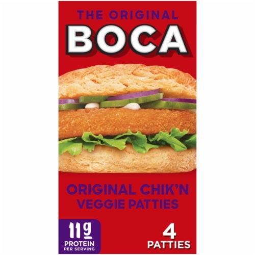 Boca Original Chik'n Vegan Veggie Patties Perspective: front