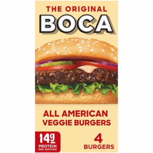 Boca All American Veggie Burgers Perspective: front