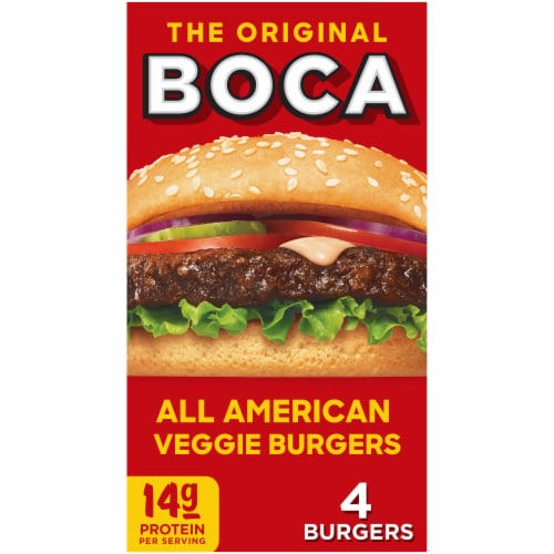 Boca All American Veggie Burgers Perspective: front