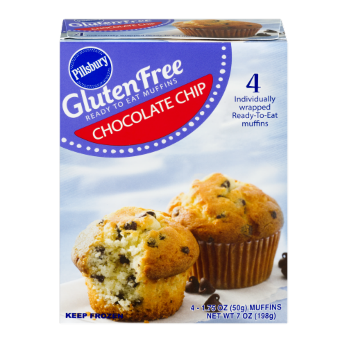 Pillsbury Gluten Free Chocolate Chip Muffins Perspective: front