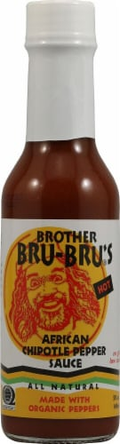 Brother Bru-Bru's  African Chipotle Pepper Sauce Perspective: front