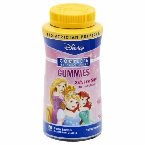 Disney Princesses Complete Multi-Vitamin Gummies 180 Count Perspective: front