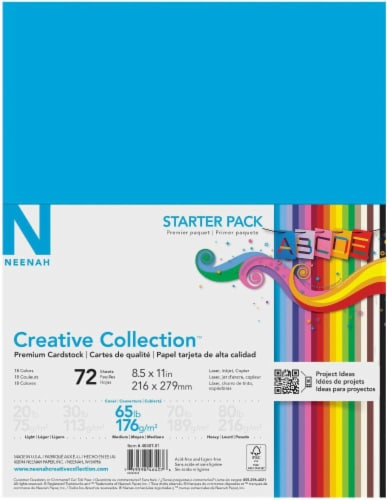 Neenah Creative Collection™ 65 lb Assorted Card Stock - 72 Sheets Perspective: front