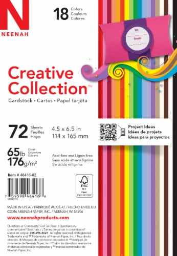 Neenah Creative Collection 65 lb Card Stock - 72 Pack Perspective: front