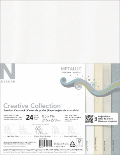 Neenah Creative Collection Metallic Cardstock - 24 Sheets Perspective: front