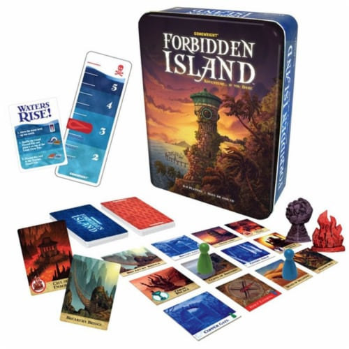 Gamewright Forbidden Island Game Perspective: front