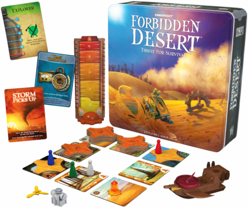 Gamewright Forbidden Desert Game - 140 Piece Perspective: front