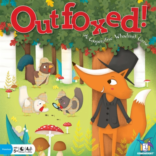 Gamewright Outfoxed! Board Game Perspective: front