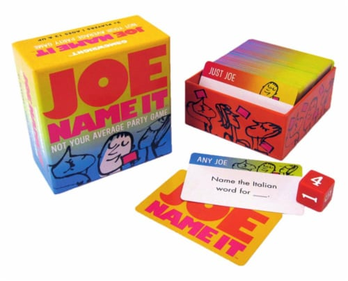 Gamewright Joe Name It Not Your Average Party Game Perspective: front
