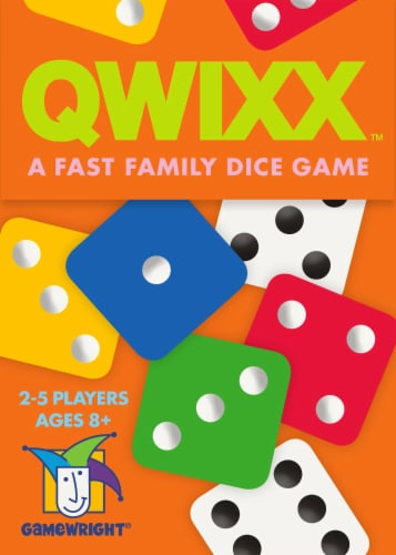 Gamewright Qwixx Dice Game Perspective: front