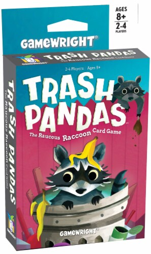 Gamewright Trash Pandas Raucous Raccoon Card Game Perspective: front