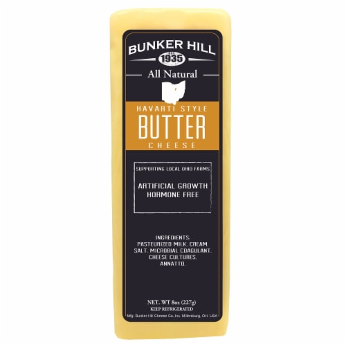 Bunker Hill All Natural Havarti Style Butter Cheese Perspective: front