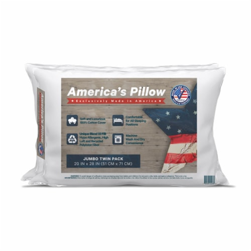 America's Pillow Jumbo Twin Pack Pillow Perspective: front