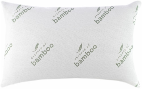 Essence of Bamboo Knit Bed Pillow - White Perspective: front