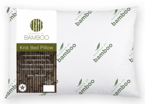 Essence of Bamboo Memory Foam Knit Bed Pillow Perspective: front