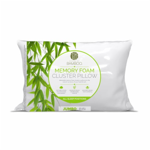 Essence of Bamboo Adjustable Memory Foam Cluster Pillow Perspective: front