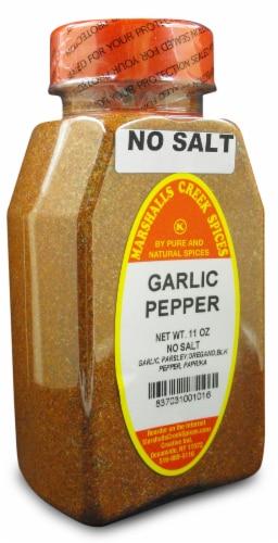 Marshalls Creek Kosher Spices GARLIC PEPPER BLEND NO SALT 11 oz Perspective: front