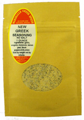 Sample Size, EZ Meal Prep  New Greek Seasoning, No Salt (with mint & onion)Ⓚ Perspective: front