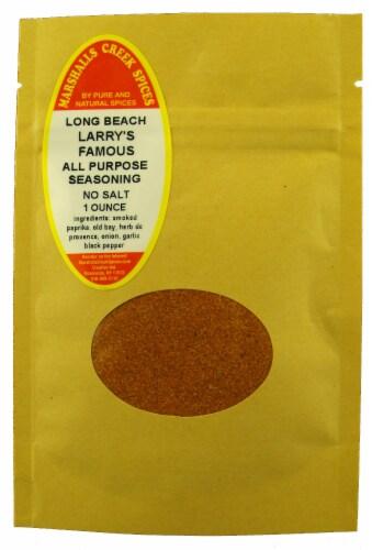 Sample Size, EZ Meal PrepLong Beach Larry's All Purpose Seasoning, No Salt Ⓚ Perspective: front