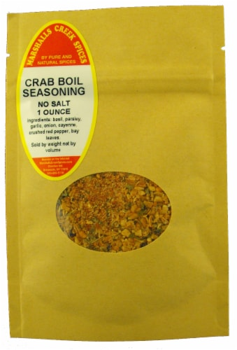 Sample Size, EZ Meal Prep, Crab Boil seasoning, No Salt Ⓚ Perspective: front