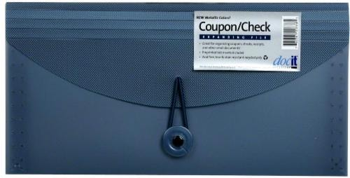 DocIt 4-Pocket Coupon/Check Expanding Folder Perspective: front