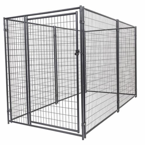 Lucky Dog Large Modular Welded Wire Box Indoor Outdoor Dog Kennel, 10x5x6 Feet Perspective: front