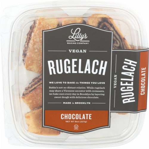 Lilly's Baking Company Vegan Chocolate Rugelach Perspective: front